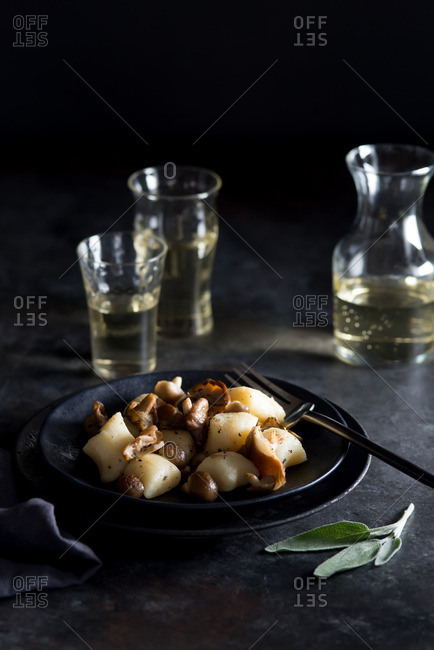 Gnocchi with Mushrooms and Sage