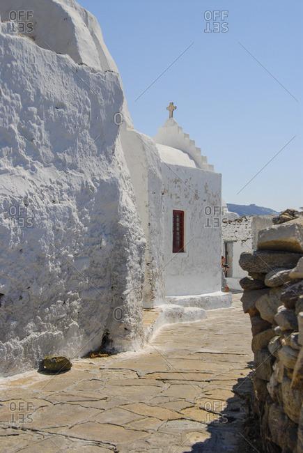 Greek orthodox church in Chora, Mykonos island, Greece