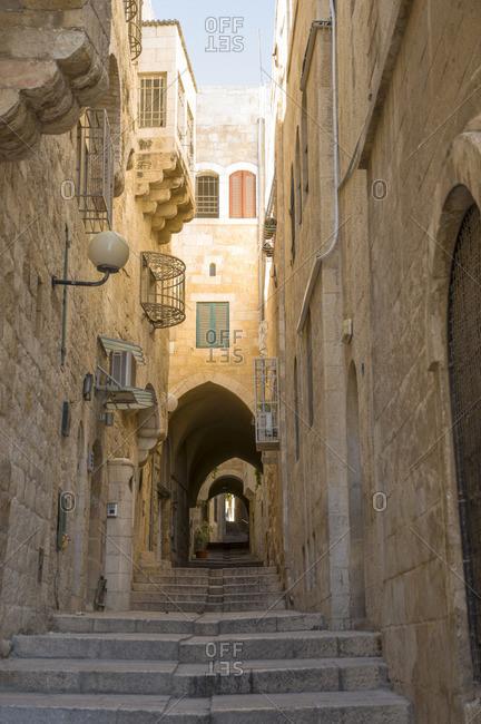 Ancient street in Jerusalem, Israel