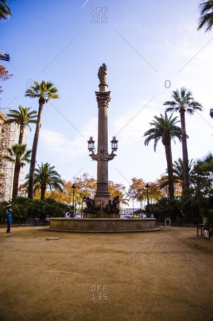 Barcelona, Spain - December 11, 2015: Pla�a del Duc de Medinaceli