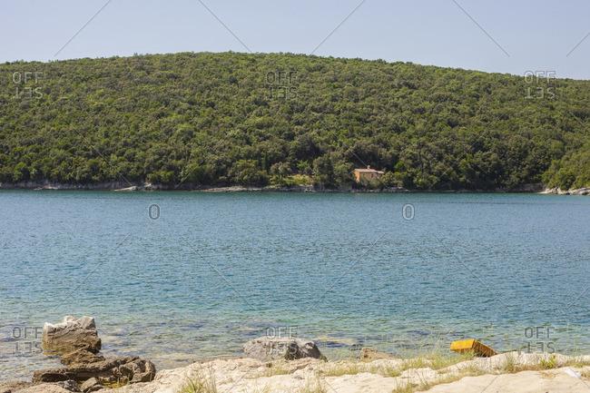View of the Adriatic Sea off the coast of Croatia