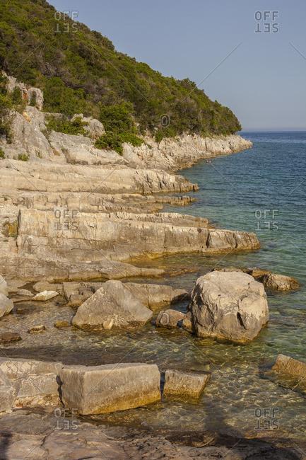 Rocky coast on the Adriatic Sea in Croatia
