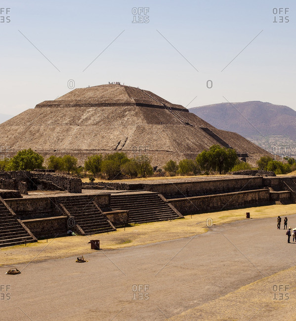 San Juan Teotihuacan de Arista, Mexico - April 18, 2013: Teotihuac�n pyramid in San Juan Teotihuacan de Arista, Mexico