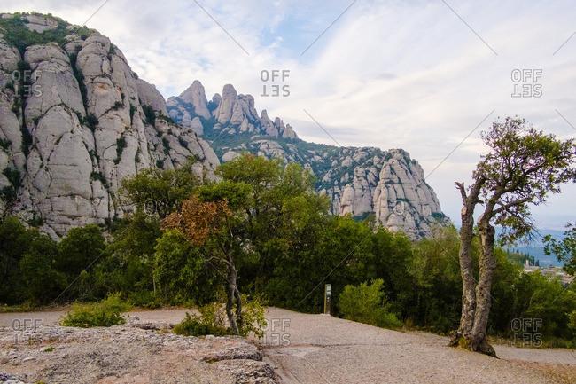 Montserrat Mountain in Barcelona, Spain