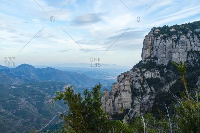 View from Montserrat Mountain in Barcelona, Spain