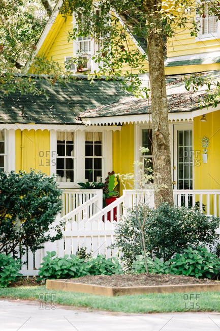 Exterior of a yellow house