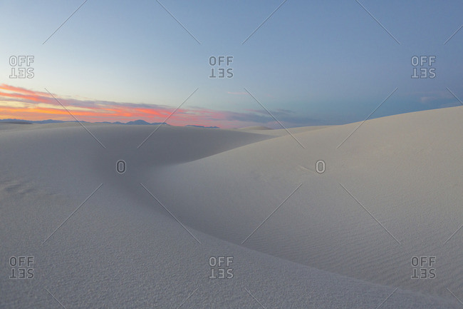 Sunset at White Sands National Monument, Alamogordo, New Mexico