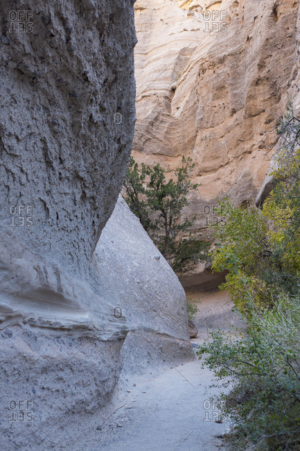 Canyons at Kasha-Katuwe Tent Rocks National Monument in New Mexico