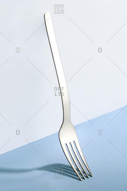 Still life of silver fork