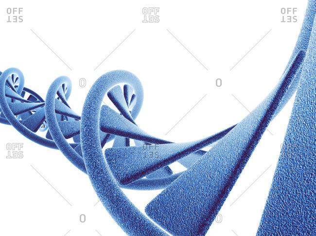 DNA molecule, computer artwork - Offset