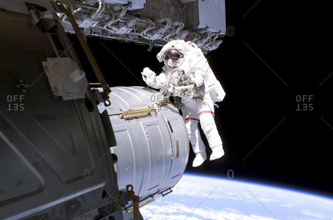 ISS space walk, August 2006