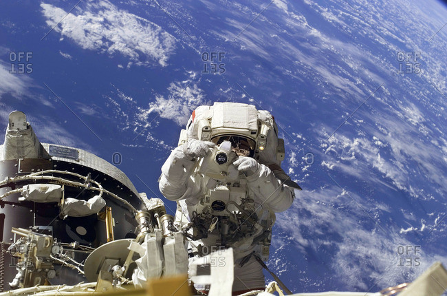 ISS spacewalk, February 2007