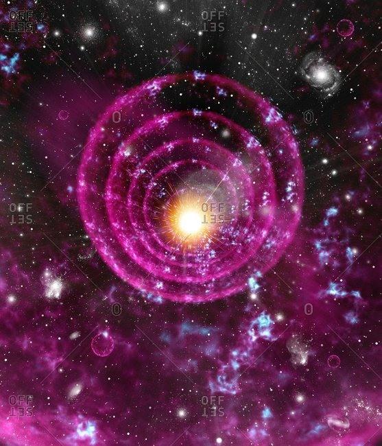 Supernova explosion, artwork