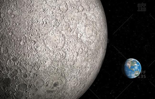 Earth and Moon, artwork