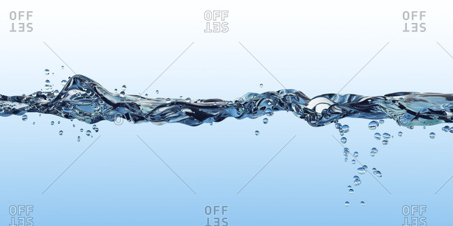Water surface, split view