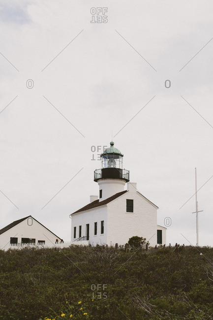 Lighthouse on the top of a hill