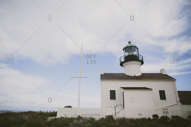 Lighthouse on a sunny day