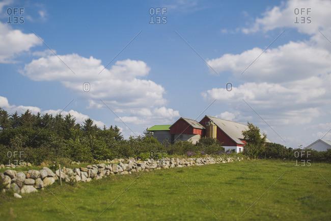 Farmhouse on a sunny day
