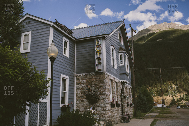 Silverton, CO, USA - July 3, 2015: Historic Hotel