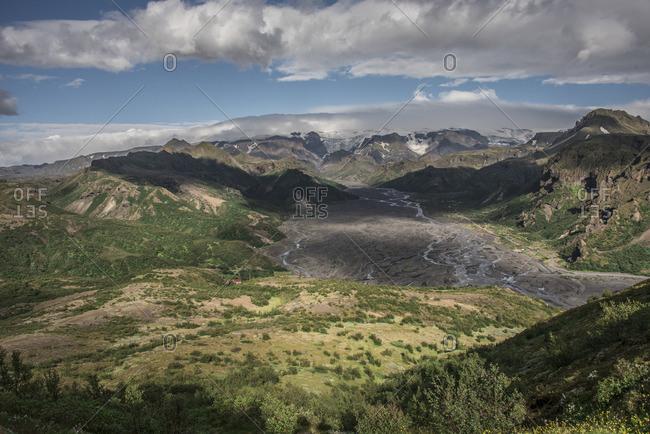 An expansive mountainous landscape