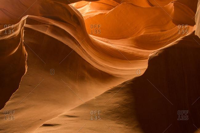 Walls inside a slot canyon