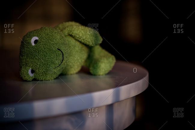 Cute stuffed animal on a table top