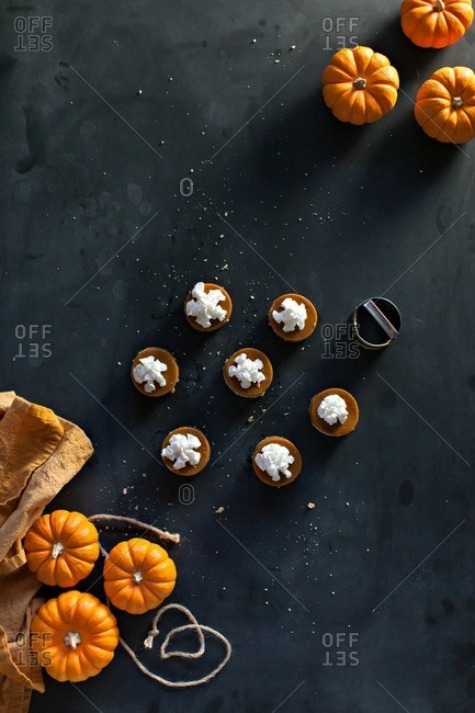 Pumpkin pies and pumpkins