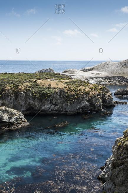 Bay on the coast of Big Sur, California