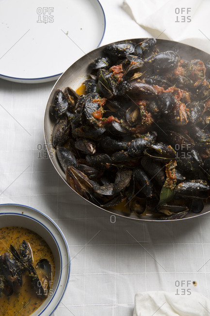 Prepared mussels