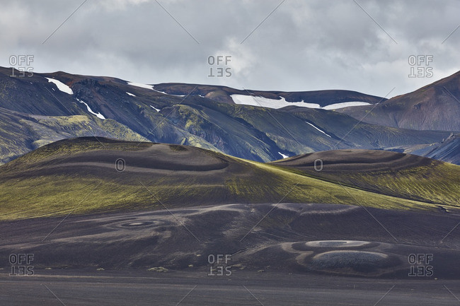 Volcanic hills in rural Iceland