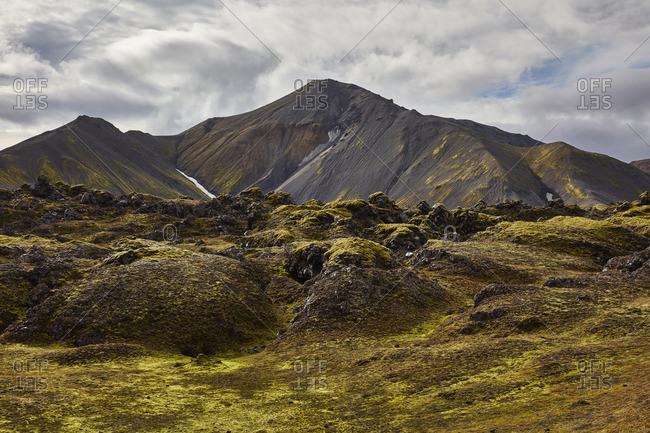 Volcanic mountain landscape, Iceland - Offset