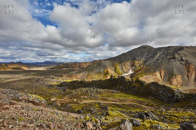 Vast volcanic mountain setting in Iceland