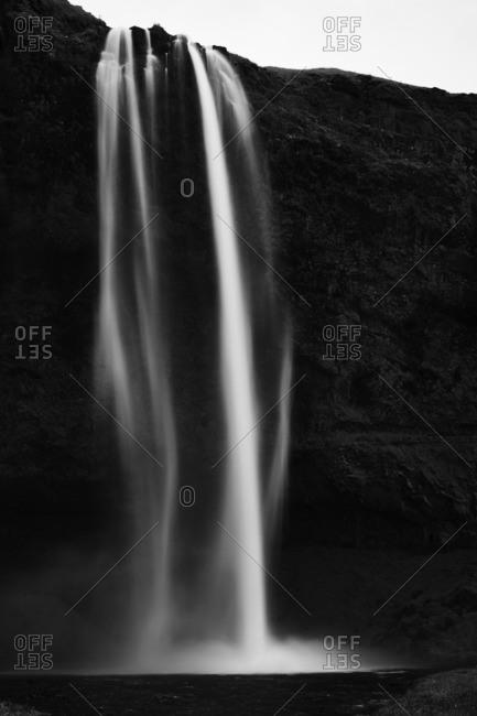 Seljalandsfoss waterfall in rural Iceland