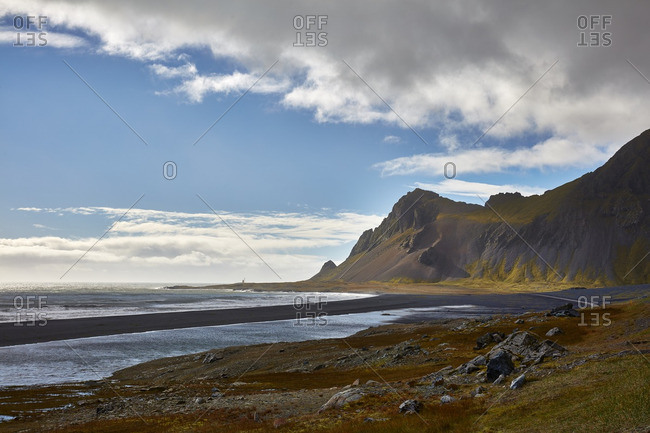Coastline of Hvalnes, Iceland
