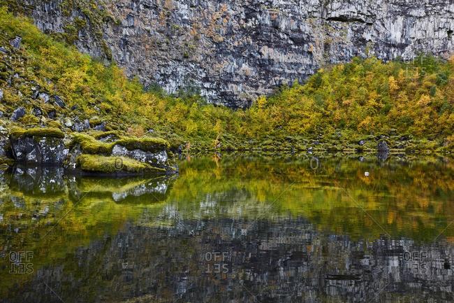Idyllic lake, Asbyrgi Canyon, Iceland