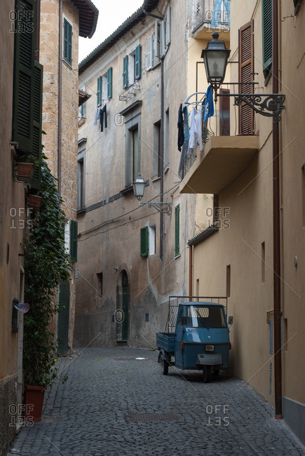 Umbria, Italy - January 4, 2011: Orvieto Street in Umbria, Italy
