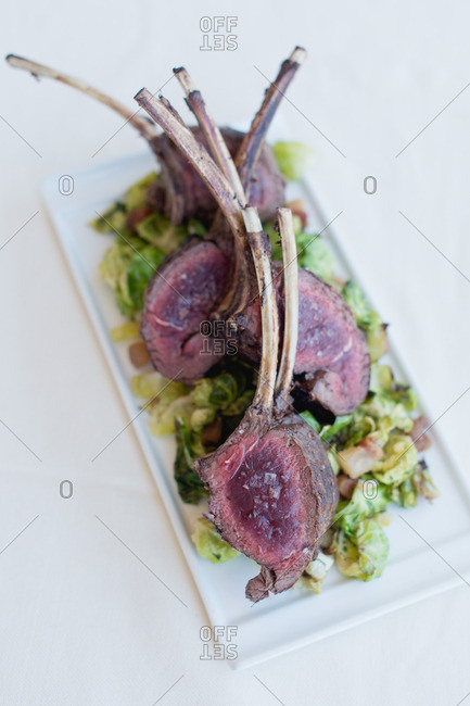 A view of meat on the table