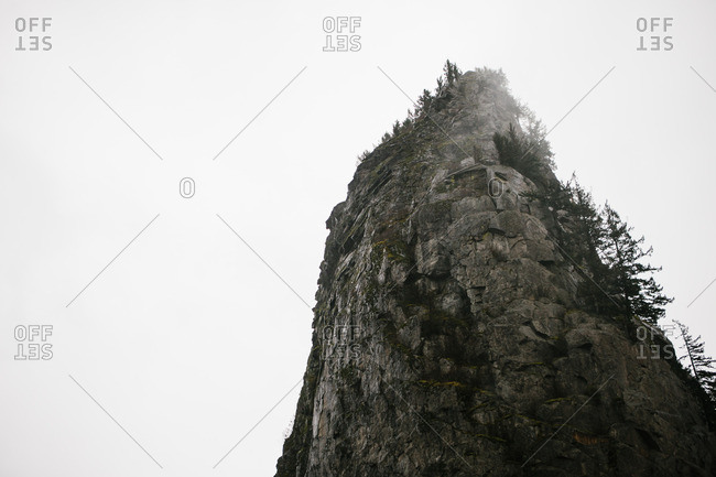Large rock scenery on an overcast day