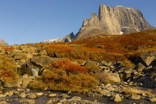 Autumn mountain landscape in Greenland