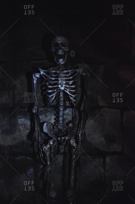 Skeleton Halloween decoration, in Guangzhou, China