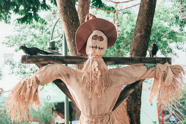 Halloween themed scarecrow in Suangzhou, China