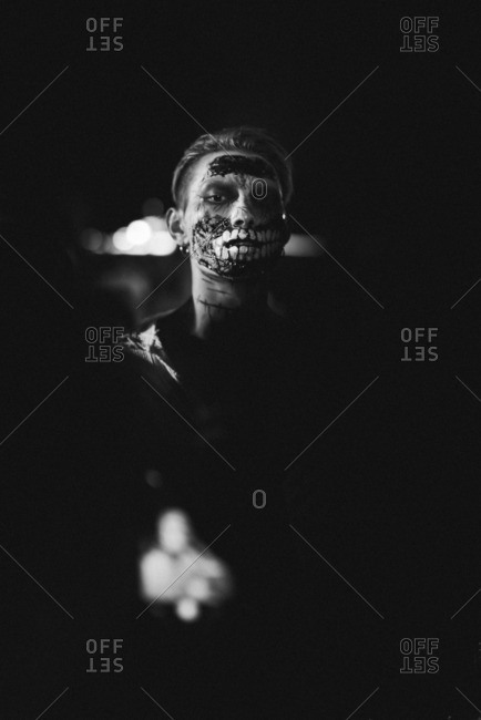 Guangzhou, China. - October 30, 2016: Chinese people at Halloween party