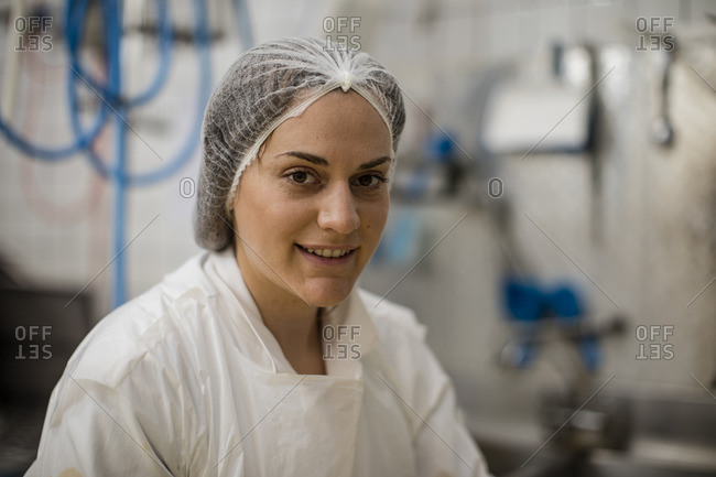 Cheese factory worker- portrait