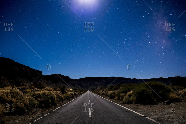 Spain- Tenerife- Teide National Park- Starry night sky