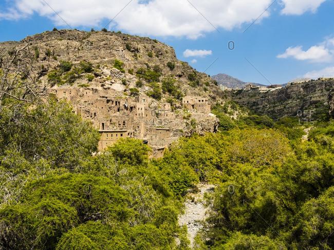 Oman- Jabal Akhdar- Abandoned village Wadi Bani Habin