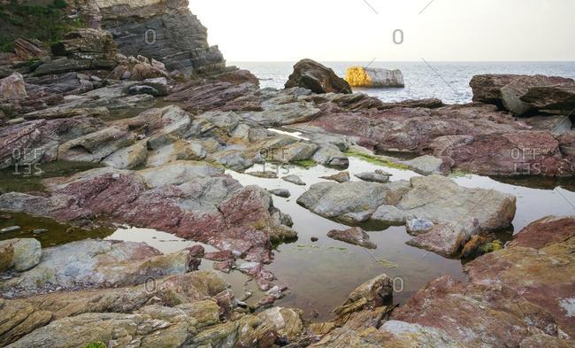 Spain- Asturias- rocky coast
