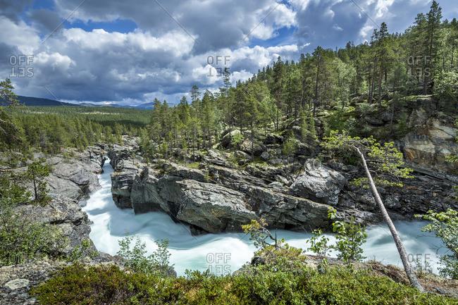 Norway- Oppland- river Sjoa in Ridderspranget ravine