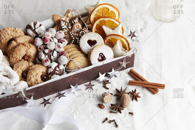 Christmas treats in a box