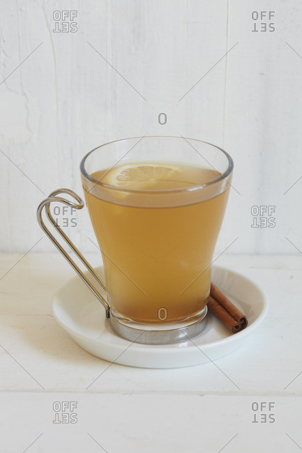 Mulled cider in a glass