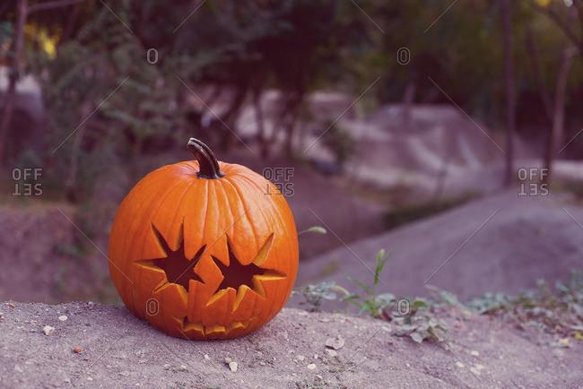 A pumpkins at BMX track